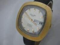 NOS NEW SWISS VINTAGE AUTOMATIC WATER RESIST DATE CARPENTIER MEN'S WATCH 1960'S