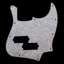 NEW White Pearl 3-Ply Jazz Bass Guitar Pickguard w/PB Pickup hole&Mounting screw
