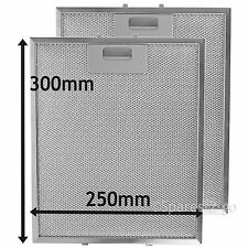 2 x Silver Grease Filter For RANGEMASTER Cooker Hood Metal Filters 300 x 250mm