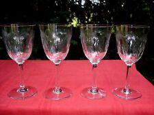 BACCARAT MOLIÉRE 4 WINE GLASSES VERRES A VIN CRISTAL TAILLÉ WEINGLÄSER WEINRÖMER