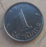 1 Centime Repubblica Francese 1968 - SPL - n  1009