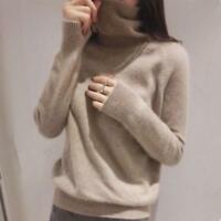 100% Cashmere Sweater Ladies Long Sleeve Turtleneck Casual Warm Pullover Tops US