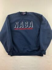 NASA Vintage Ames Research Center Mens Sz L Crewneck Sweatshirt Blue