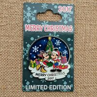 Mickey Minnie Mouse Merry Christmas Pin 2017 Disney Parks Holidays LE 4000