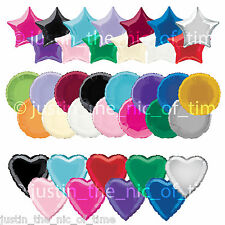 Solid Colour FOIL Shaped Helium Balloons Wedding Birthday Party Decorations