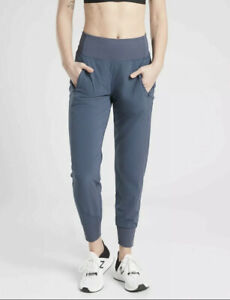 New! ATHLETA  Distance Jogger Pant in Dobby Iron Blue Size Small #510223