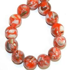MP731f Red Mother of Pearl Shell & Resin 10mm Round Gemstone Beads 16""