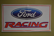 FORD RACING BANNER Mustang Turino Sign Shop Mechanic Garage Free Shipinng