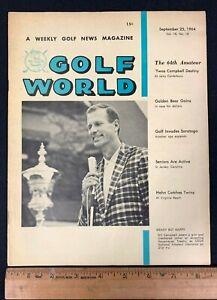 1964 SEPTMEBER 25 GOLF WORLD WEEKLY NEWS GOLF MAGAZINE *BILL CAMPBELL/HAHN* 8520