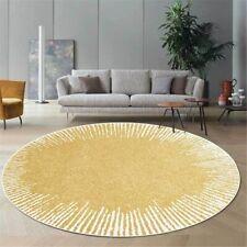 Round Area Rug Geometric Bedroom Abstract Carpet Room Rug Floor Mat Antislip