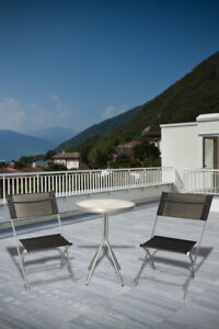JW Bistro Balkon Set Tisch Stuhl Stühle Terrasenset klappbar Balkonmöbel Outdoor