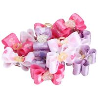 Mix Hair Bows Rubber Bands for Small Dog Pets Grooming Products Pack of 15