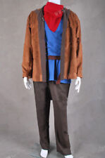 Merlin Cosplay Costume Full Set Coat Shirt Pants Scarf Outfit Halloween NN.2023