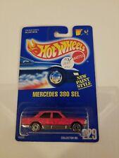 Rare HTF Hot Wheels Mercedes  380 SEL {{{GLITTER PINK}}} #229  MOC