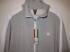 NWT SERGIO TACCHINI ZIP UP FRONT SWEATER JACKET TENNIS GRAY GREY (SIZE XL)