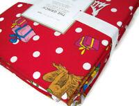 Pottery Barn Teen Organic Percale Polka Dot Christmas The Grinch Full Sheet Set
