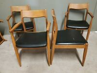 Set of 4 ZEPHYR Cherry Mid Century Modern Danish Modern Dining Chairs MCM