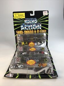 3x Funrise Micro Action Cars Precision Detailed Race Convertible Cars And Signs