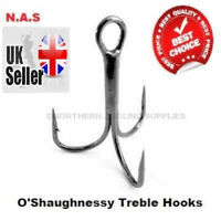 O'Shaughnessy Treble Hooks All Sizes & Qty  5 ,10 or 25pc Super Sharp Hooks
