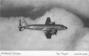 Airline Advertising Northwest in Flight artist impression Postcard 20-7052