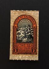 California State Revenue - 2 oz. Distilled Spirits Tax Stamp #L15 - MNH - CA