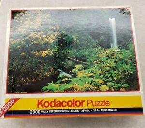 Rose Art Brand Kodacolor 2000 Piece Jigsaw Puzzle #16161 Multnomah Falls Oregon