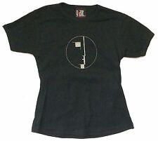Bauhaus Glitter Face Logo Image Girls Juniors Black T Shirt New Official OSFA