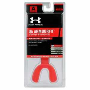 UnderArmour ArmourFit Mouthguard Strapped - Youth - Red - New