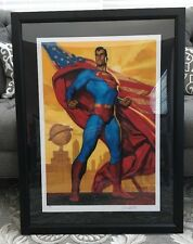 """""""Superman: Truth, Justice, And The American Way"""" Signed Framed & COA"""