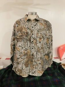 Cabela's Camouflage Oak Country Long Sleeve Camo Shirt Size 3X REG Made in USA