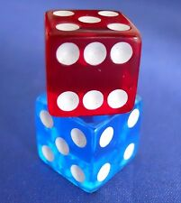 Monopoly Spiderman 3 Movie Translucent Red & Blue Dice Replacement Game Part