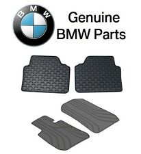 BMW 325xi 328i Pair Set of 2 Floor Mat Set All Weather Rubbers Anthracite Black