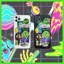 Rick And Morty 3D NASA Pattern Phone Case Cover For Iphone 7Plus X XR Max 11Pro