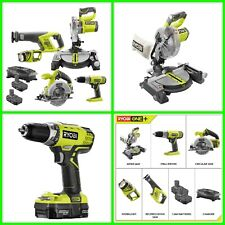 New ListingFive Power Tool Set Cordless Combo W/ 2 Batteries & Charger Included 18V Lithium