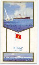 Bibby line cruise liner card ephemera circa 1940