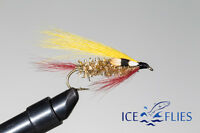 ICE FLIES. Streamer fly, Golden Ghost.Size 2, - 10 (3-pack)