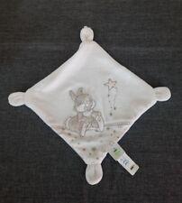 Doudou Carré Plat Disney Baby Panpan en relief Broderies Étoile Gris + cadeau