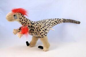 Velociraptor Plush - K & M INTL Dinosaur 48cm Cretaceous Soft Toy Articulated