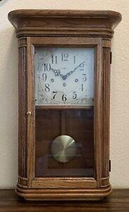 VINTAGE-Howard Miller Westminster Chime Wall/Mantel Clock (Sandringham 613-108)