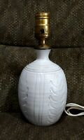 VINTAGE ROBERT L RL MORGAN STUDIO ART POTTERY LAMP NORTH SANDWICH, NH 1914 -1976