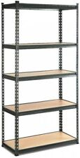 5 Tier Shelving Unit Warehouse Rack Storage Racking Garage Shelf 200kg Charcoal