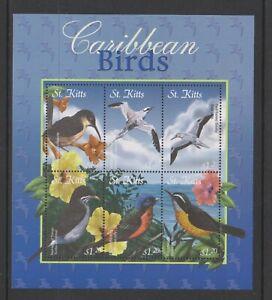 St Kitts - 2001, $1.20 x 6 Karibik Vögel Blatt - MNH