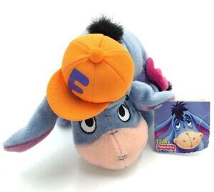 Eeyore Disney Plush Stuffed Animal Winnie the Pooh 2003 Orange Hat Hip Hop T