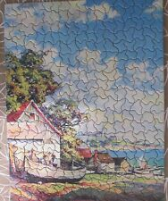 "Vintage Tuco Deluxe Picture Puzzle Perfectly Cut  ""Along The Highway"", 1940's"