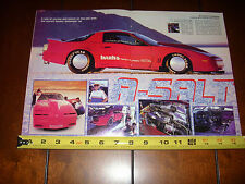 1987 PONTIAC TRANS AM GTA GALE BANKS BONNEVILLE RACE CAR - ORIGINAL 1988 ARTICLE