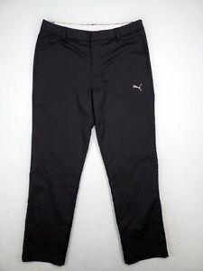 Puma Mens Black Golf Pants Size 34x32 Modern Comfort Stretch Lightweight EUC