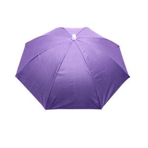 Umbrella Hat Headwear Cap Head Band Foldable Rainproof Fishing Camping Outdoor