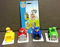 Paw Patrol Racers Set Of 4 Chase, Marshall, Rocky & Rubble plus Dog Tags NEW