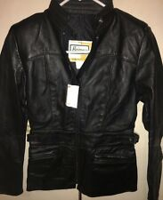 -NEW- NWT Vintage Brimaco Cafe Racer Leather Motorcycle Jacket Women's 8