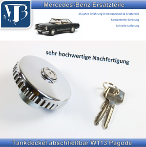 Mercedes-Benz W113 280SL Pagode Fuel Tank Cap, Fuel Filler Cap Tank Lockable